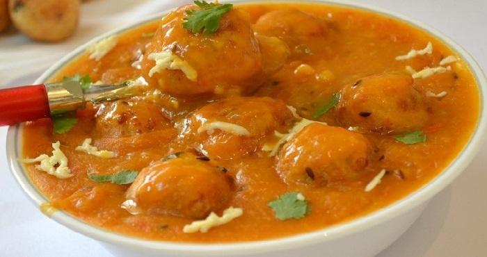Dahi Paneer Kofta Curry Recipe In Hindi