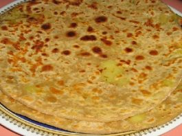 Bikaneri Kaccha Aam Paratha Recipe