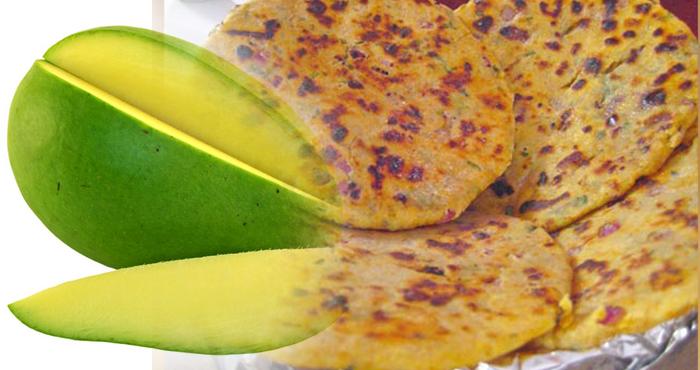 Bikaneri Kaccha Aam Paratha Recipe In Hindi