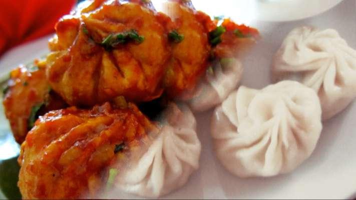 Veg Chili Momos Recipe in Hindi