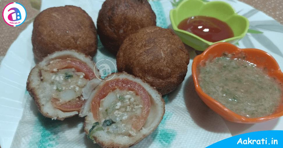 Stuffed Tomato Bread Pakora